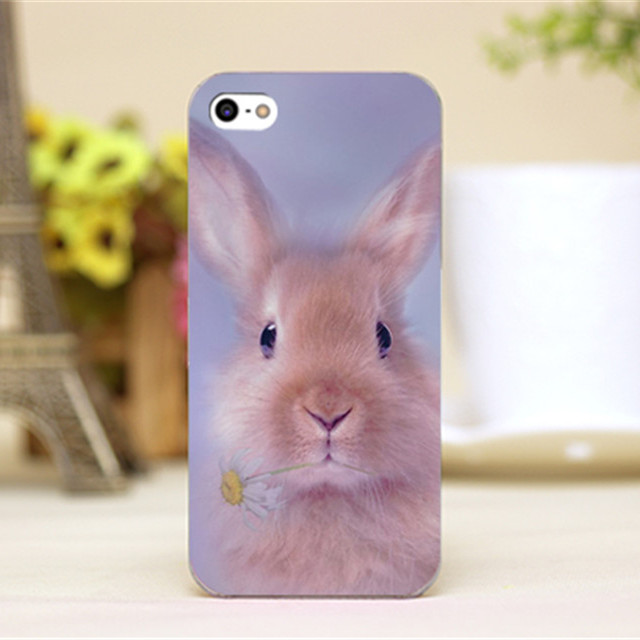 pz0026-5 cartoon art cute rabbit Design phone transparent cover cases for iphone 4 4s 5 5c 5s 6 6plus hard case shell(China (Mainland))