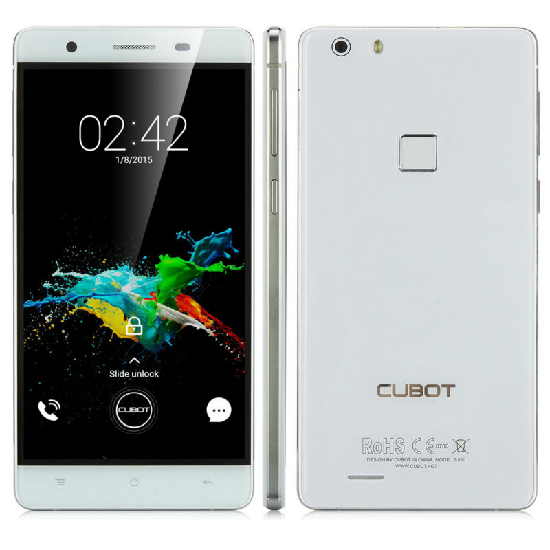 Original Cubot S550 MTK6735 Quad-Core Smartphone 5.5 Inch Android 5.1 Cell Phone 2GB+16GB 3000mAh Mobile Phone Fingerprint(China (Mainland))