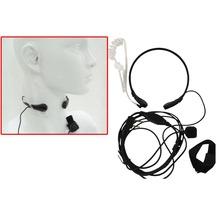 Throat Microphone Walkie Talkie Headset PTT for Portable CB Radio Baofeng UV-5R UV 82 GT-3 UV-B5 UV B6 UV-5RE Plus BF-888S Whole(China (Mainland))