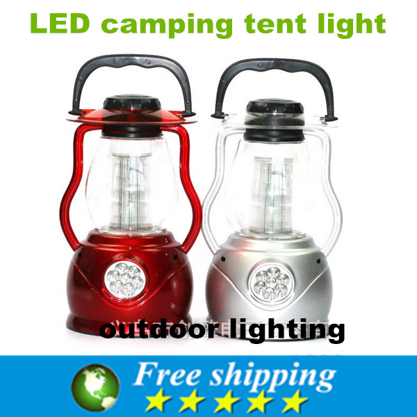 High Quality Portable LED 32 camp tents lamp, high efficiency and energy saving lantern, camping lamp, silver and red.(China (Mainland))