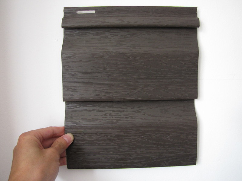 PVC Prefabricated wall panel water resistant 1.1thickness brown wood extrusion Technique plastic Profile composite wall cladding(China (Mainland))