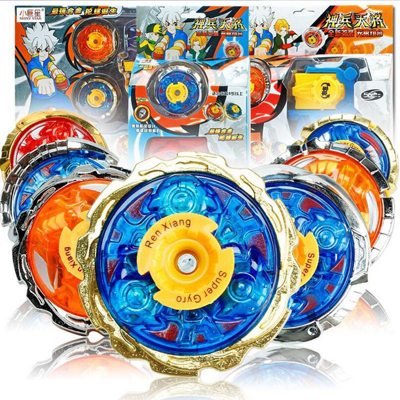 Children Alloy Metal Spinning Top Beyblade Set Gyroscope With Launchers Children Kids Sports Toy Christmas New Year Gift(China (Mainland))