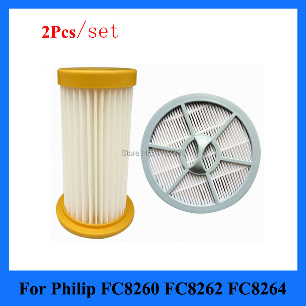 Гаджет  2Pcs/set Vacuum Cleaner filter+ air Outlet HEPA Filter for Philips FC8208 FC8250 FC8260 FC8262 FC8264 None Бытовая техника
