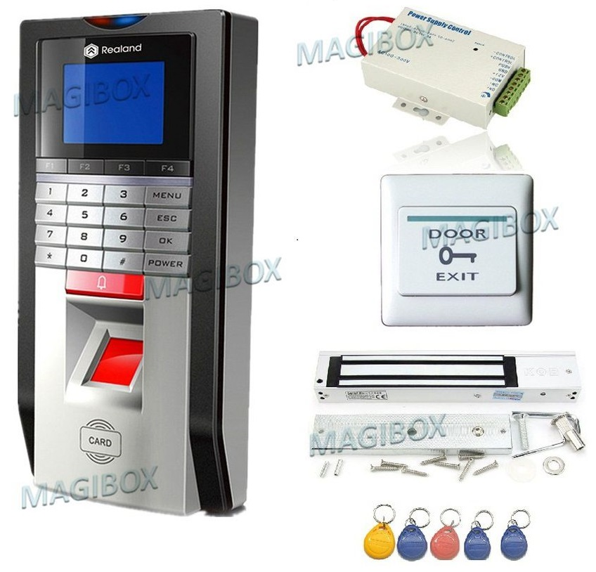 Bio Door Fingerprint and RFID Card Door Access Control System & Time Attendance Kits+Magnetic lock(China (Mainland))