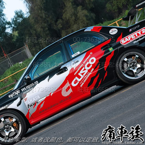 Racing car stickers flame stickers decorative garland vehicle modification case for Subaru Impreza<br><br>Aliexpress