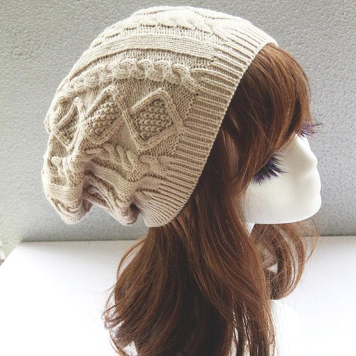 Womens Fall Fashion Hats Twist Pattern Beanies Winter Gorros for Female Knitted Warm Skullies Touca Chapeu Feminino 1MZ0504(China (Mainland))