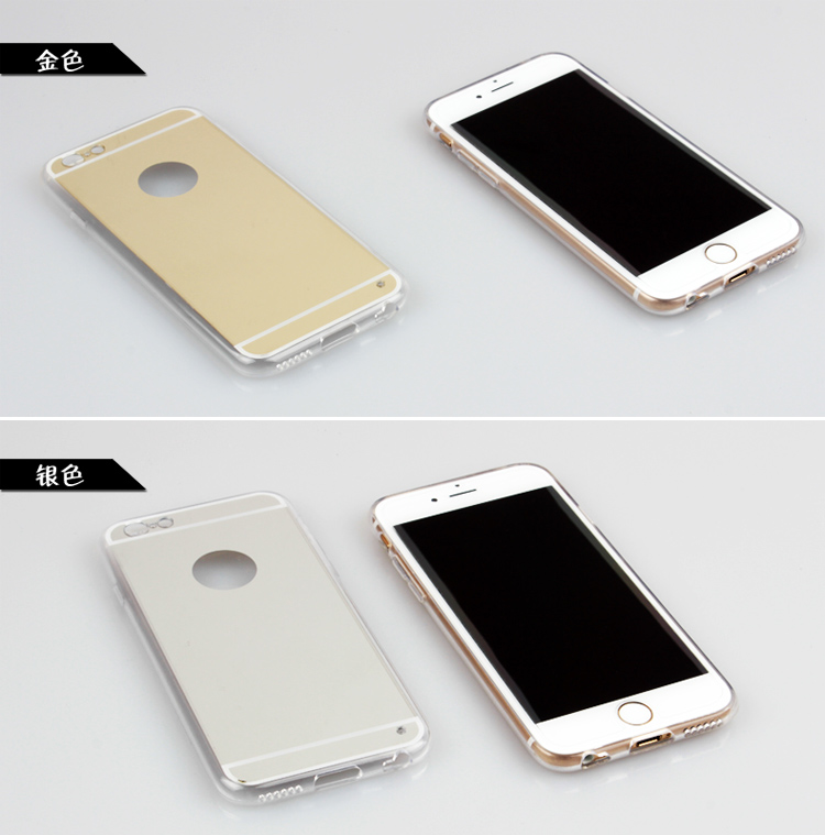 New Rose gold Luxury Mirror Soft Clear TPU Case For iphone 6 6S 4.7 inch & iPhone6 Plus 5.5″ & 5se 5s 5 Cover Back