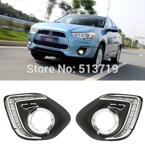 LED Daytime Running Lights For New ASX 2013 2014 Mitsubishi, DRL LED Daylight Auto Car Fog Lamp Fog light Free shipping<br>