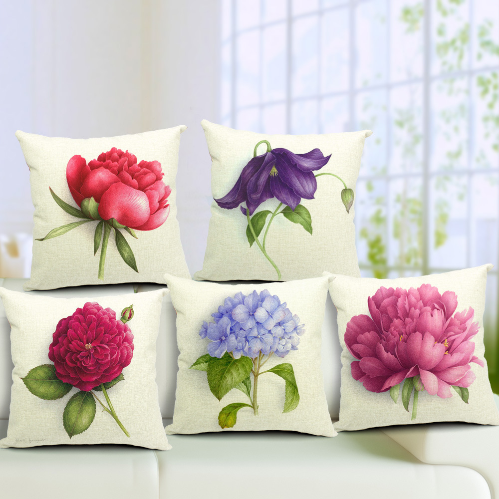 The rose flower small fresh cotton pillow cushion sofa office car cushion can one generation V2(China (Mainland))