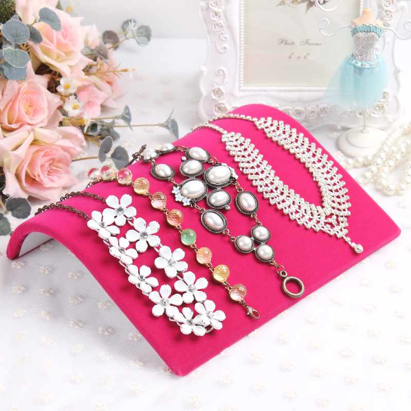 Wholesale rose red  necklace display Tray Jewelry display board necklace Display Show Case Organizer Tray Necklace display board<br><br>Aliexpress