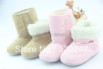 Free shipping High quality kid's shoes newborn baby boy/girl 3 colors snow boots  baby first walkers shoes Wholesale retail