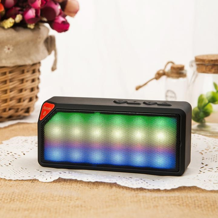 High Quality X3S Mini Wireless Colorful LED Lights Pulse Bluetooth 2.0 Speaker Support Handsfree TF AUX FM Radio for Smartphone(China (Mainland))
