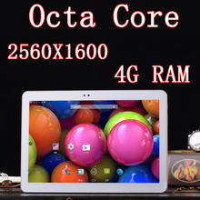 10.1 inch 8 core Octa Cores 2560X1600 DDR 4GB ram 32GB 3G Dual sim card 13MP Bluetooth Tablet PC Tablets PCS Android4.4 7 8 9