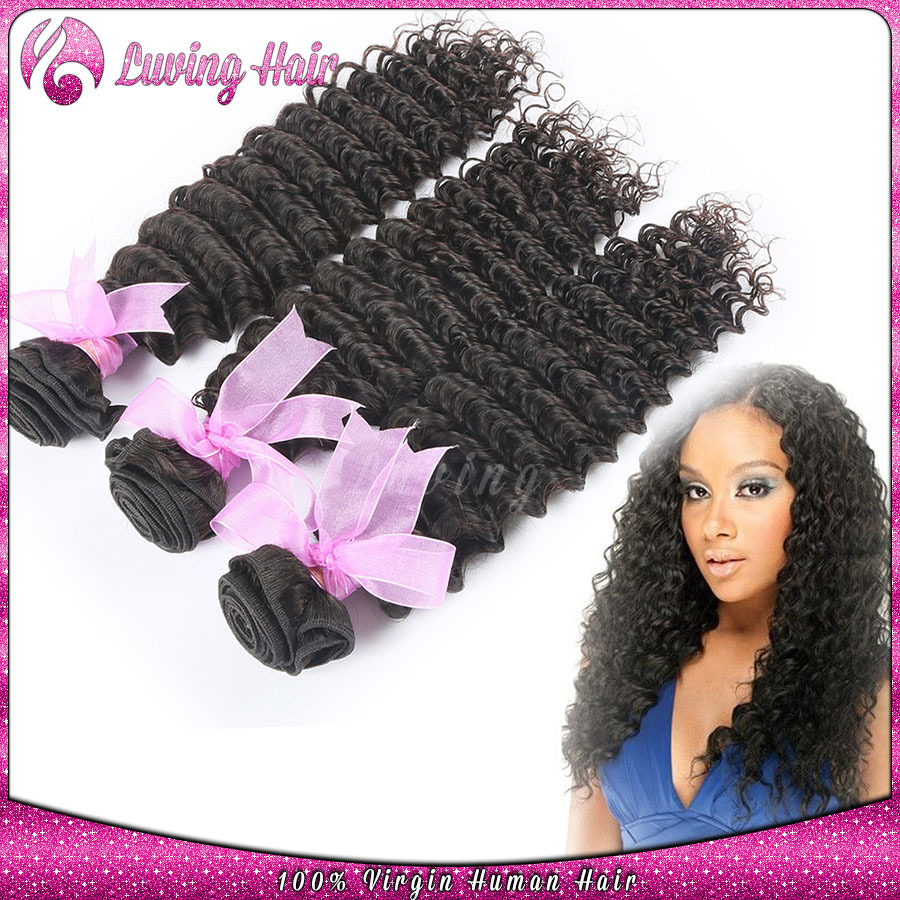 7A Grade Unprocessed Deep Wave Curl Rosa Hair Products 3Pcs/Lot Peruvian Virgin Hair Extenstions deep wave Peruvian Remy Hair<br><br>Aliexpress