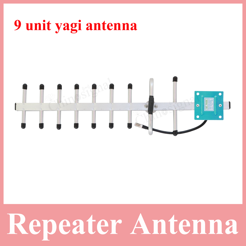 high gain 806-960mhz 9 unit yagi antenna for repeater 13 dbi cdma850 gsm980 direction antenna for cellphone booster amplifier(China (Mainland))