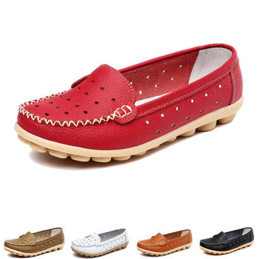 New 2015 Women Genuine Leather Shoes Slip-on Ballet Women Flats Comfort Woman Shoes 5 Colors Moccasins Autumn Shoes(China (Mainland))