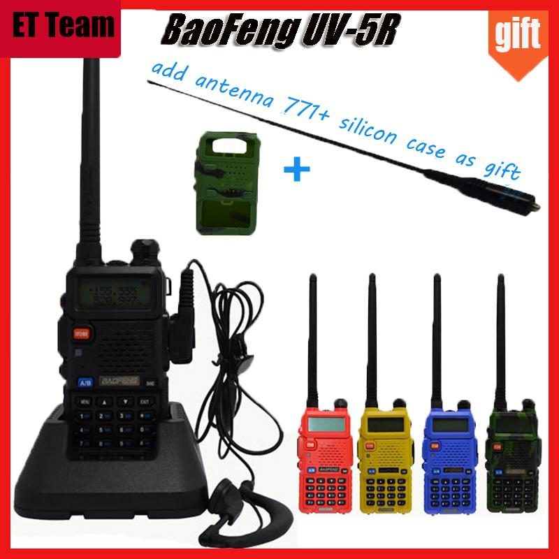 2016 Hot Portable Radio Baofeng UV-5R two way radio Walkie Talkie pofung 5W vhf uhf dual band baofeng uv 5r with gift antenna(China (Mainland))
