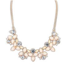 2015 New Fashion Brand Designer Chain Choker Vintage Rhinestone Necklace Bib Statement Necklaces & Pendants Women Jewelry N0300(China (Mainland))