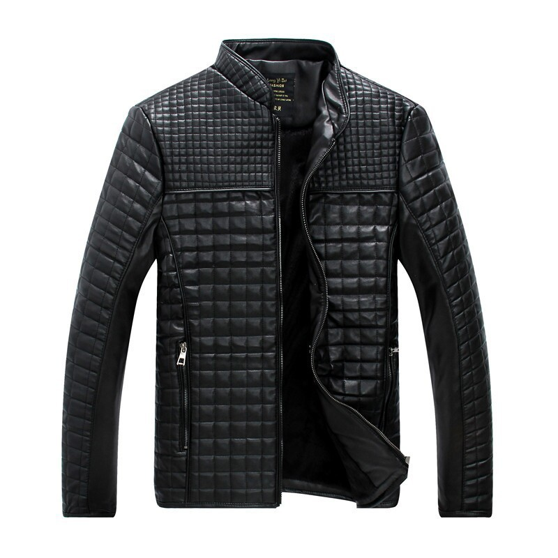Plus Size M-5XL New Fashion Korean Style Stand Collar Autumn PU Men Leather Jackets XY305(China (Mainland))
