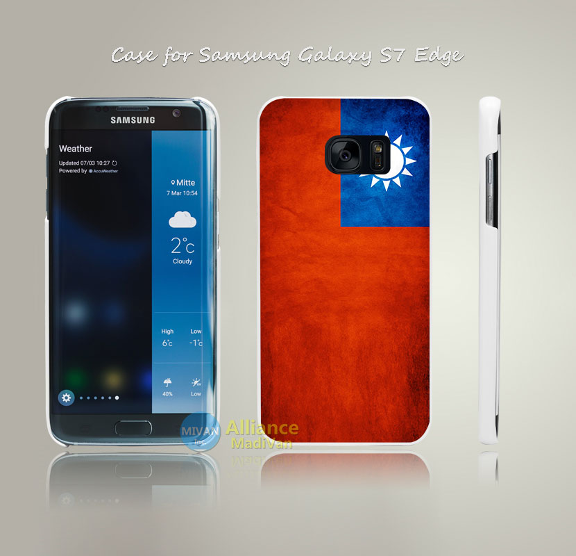 Taiwan (China) Grunge Flag Print Hard White Case Cover for Samsung Galaxy S4 S5 S6 S7 Edge Plus +(China (Mainland))