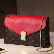 Real Leather Handbags Luxury Ladies Bags Vintage Printing Small Crossbody Bags For Women Famous Brand Shoulder Messenger Bag