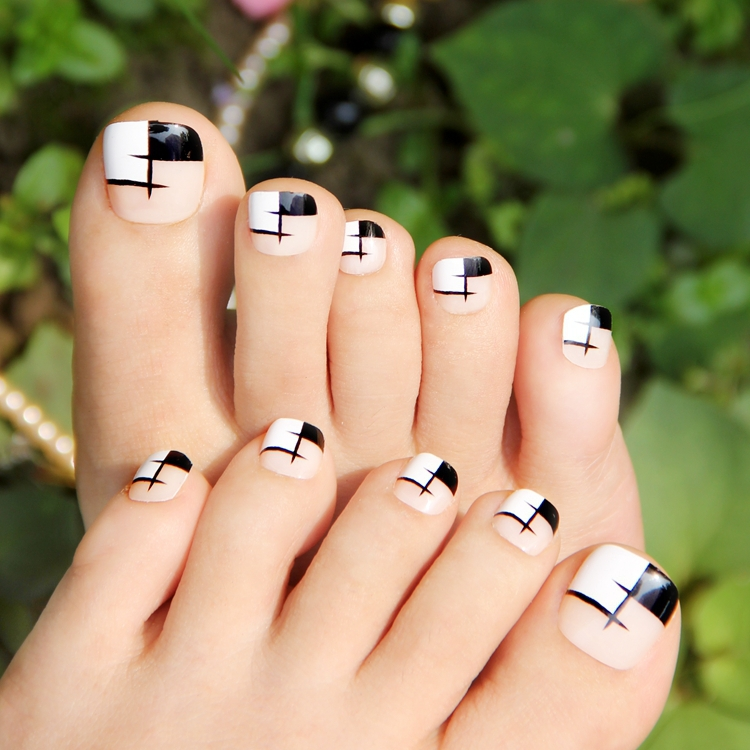 Toe Nail Designs White Tips: Childishly easy toe nail designs. Best ...