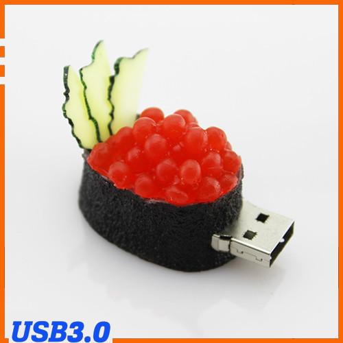 100% Genuine USB Flash Drive cartoon Caviar sushi rice ball shaped memory stick pen drive USB 3.0 8GB 16GB 32GB 64GB pendrive(China (Mainland))