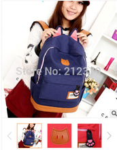 3pcs/lot New Womens Cartoon Cat Ears Backpack