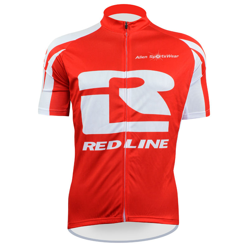 Cycling shirt bike equipment RED LINE Pattern Men top Sleeve Bicycle Clothing Red/White Breathable Cycling Jersey Size XS-5XL IL(China (Mainland))