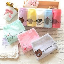 underwear women animal cartoon cute girl underwear bragas thongs ladies Cotton Briefs wholesale women panties 025(China (Mainland))