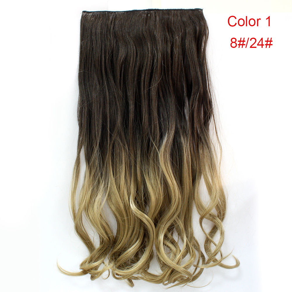 Neverland 24 Inches 60cm Full Head Clip In Hair Extensions Ombre
