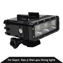 Accessories GoPro Underwater Light Diving Waterproof LED Video Llight Spot Lamp For GoPro Hero4 3+ 3 SJ4000 SJCAM Xiaomi Yi(China (Mainland))