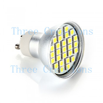 10pcs GU10 White 27 SMD LED Dimmable Spot Lamp Bulb 4W Model 1 LED0058(China (Mainland))