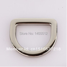 """4.8mm 35.3*30mm(1"""" inside) bags hardware top quality stainless steel d-ring for handbag leather goods metal accessory d ring(China (Mainland))"""
