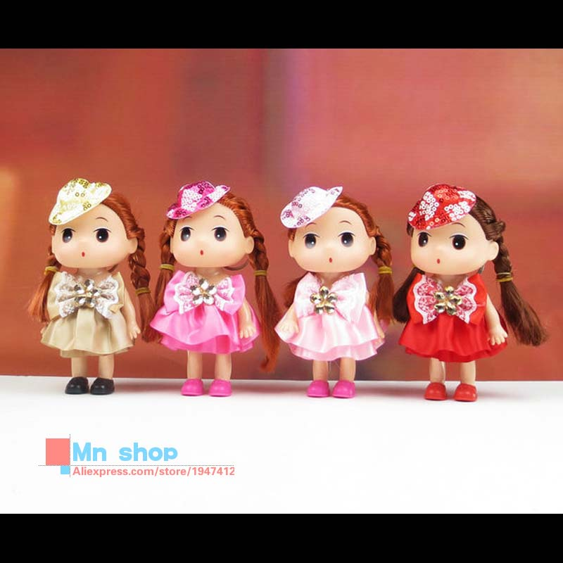 Free Shipping 15cm Kids Toys Soft Interactive Baby Dolls Toy Mini Doll For Girls and Boys P20(China (Mainland))