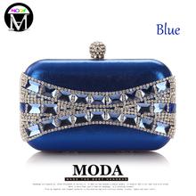MODA Glass Diamond Evening Bags Elegant Blue Black Gold Silver Clutch Handbags Shoulder Bag Club Prom Party Wedding Bridal Purse