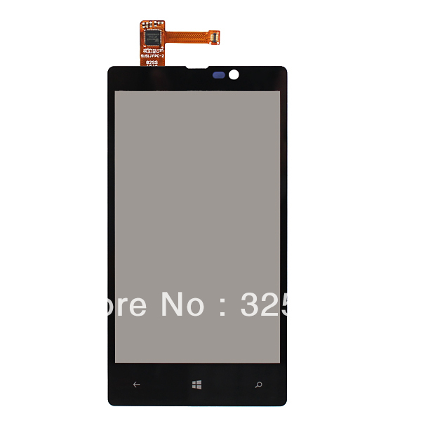 New Black Front Touch Screen with Digitizer Replacement for Nokia Lumia 820 N820 free shipping !!!