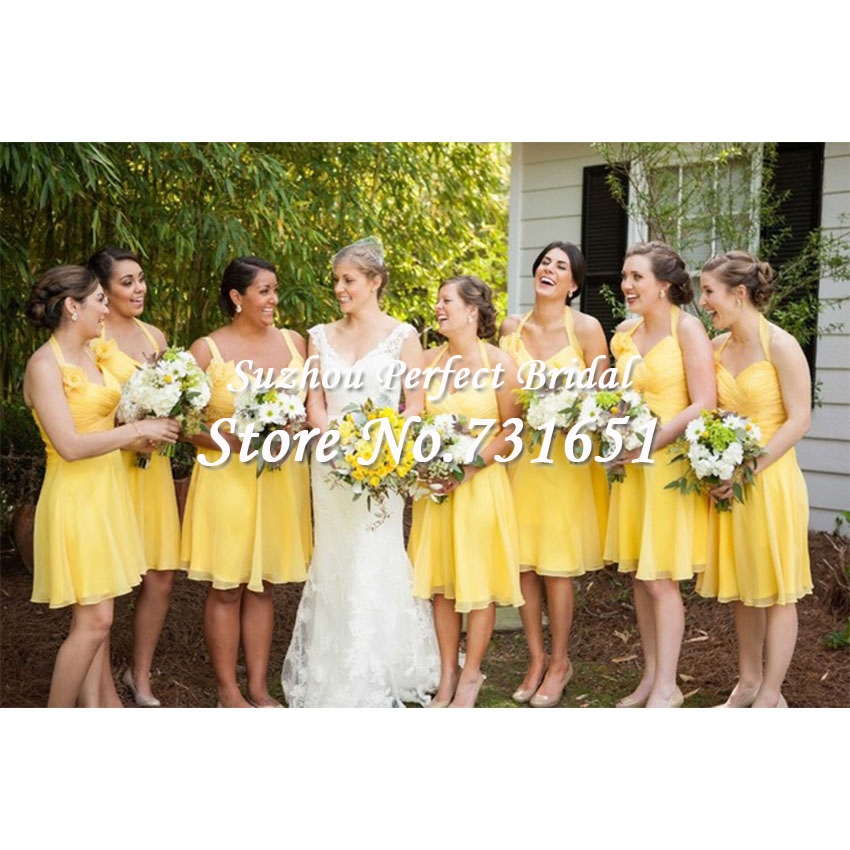 Bridesmaid dresses yellow and blue cheap wedding dresses for Yellow wedding dresses for sale