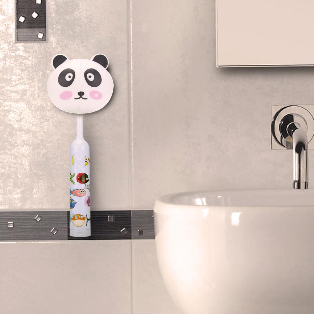 Toothbrush Wall Suction Bathroom Sets Cartoon Sucker Toothbrush Holder small panda Suction Hooks(China (Mainland))