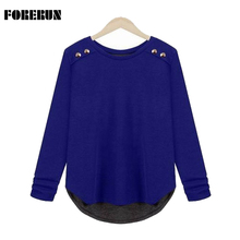 4XL Casual Sweater Women 2015 Spring Thin Pullover Plus Size Loose Long Sleeve Knitted Winter Basic Sweaters 3 Colors SW008(China (Mainland))