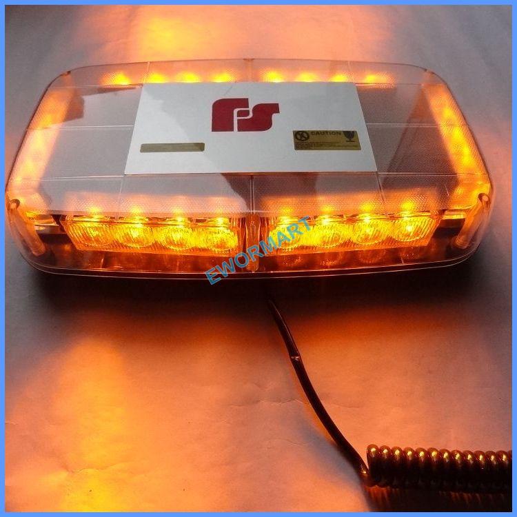 24led Police strobe lights vehicle strobe light beacon with magnet led emergency flash lights DC12V RED BLUE WHITE AMBER(China (Mainland))