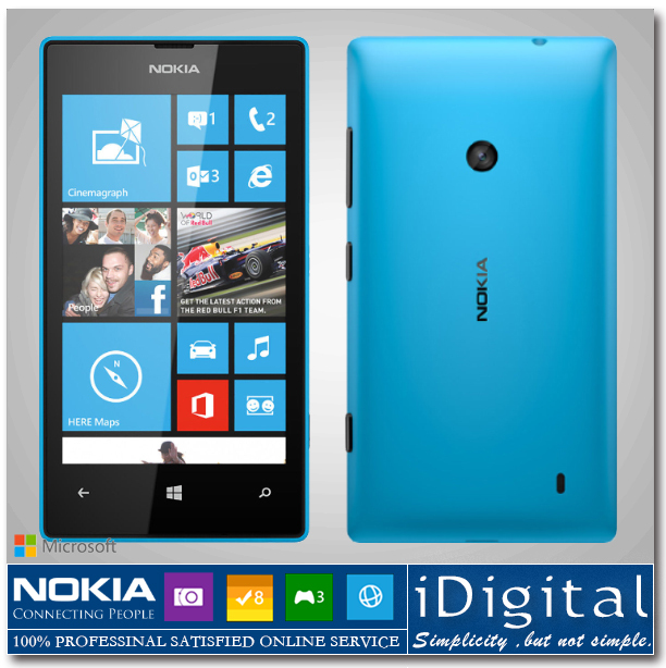 "Original Nokia Lumia 520 Unlocked 4.0"" IPS Dual-core 1024MHz 8GB ROM Camera 5MP Windows Phone 3G WIFI GPS Bluetooth Smartphone(China (Mainland))"