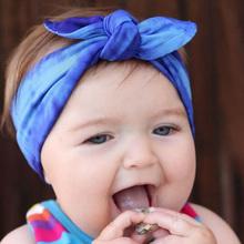 New Baby Girl Headwrap Cotton Bow Knot Headband for Girl Hair Accessories Fashion Rabbit Ears Bow Hairband Headwear Bandana