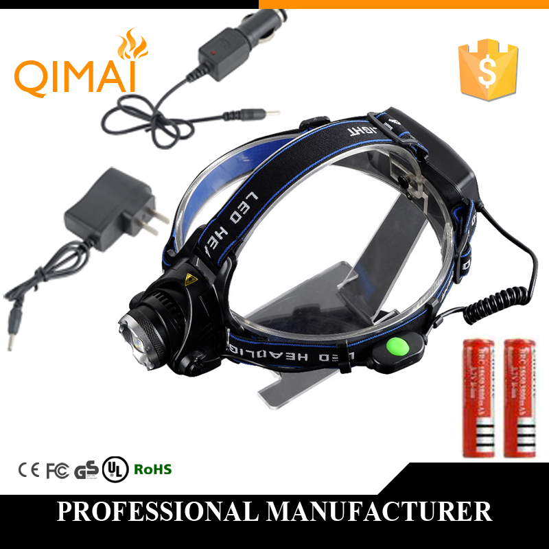 Headlight Headlamp Cree XM-L T6 led 2000LM rechargeable Head lamp light +2*18650 battery +Charger free shipping