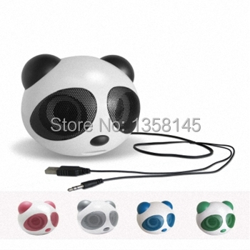 2014 HOT New Portable mini Speaker Fashion big panda Speaker mini Speaker for mp3/mp4/ PC/ PSP loudspeaker+Free shipping(China (Mainland))