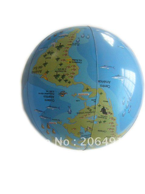 Free shipping promotional inflatable product 30cm inflatable earth ball inflatable beach ball wholsales and retail(China (Mainland))