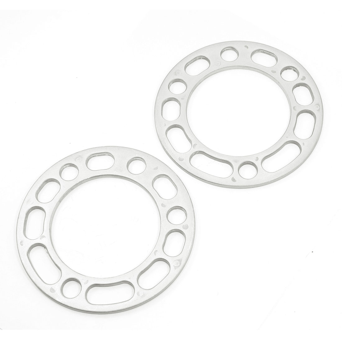 Pair Car Silver Tone Aluminum Outer Dia Wheel Spacer Gasket Spare Part(China (Mainland))