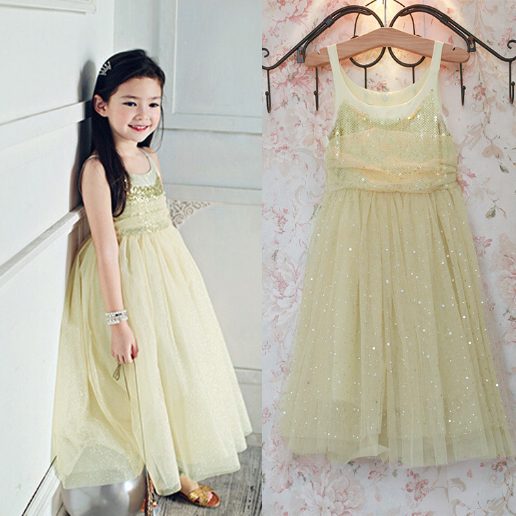 Free shipping 5pcs/lot Vintage Beige Lace Girls dresses Party Sequin Tutu Dress Girls Toddler Dress Kids Clothing For 3-8T Wear<br><br>Aliexpress