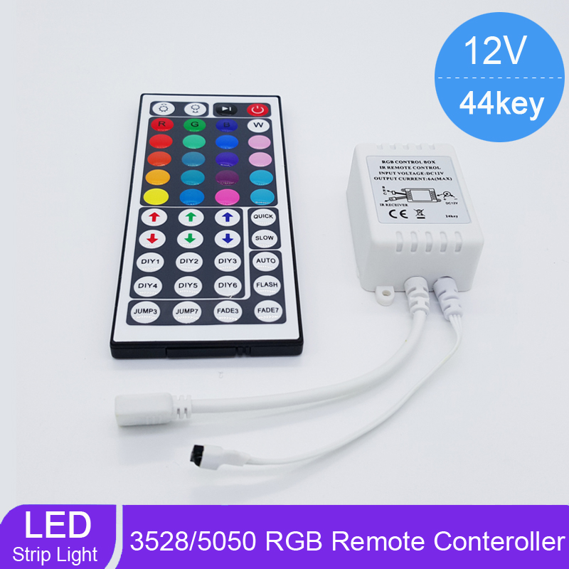 Brand NEW DC12V 44 Keys IR Remote RGB Controller for SMD3528/5050/5730/5630/3014 RGB LED Strip lights Mini Controller(China (Mainland))