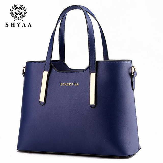 Shyaa - мода кожаная сумка дамы сумка сумки женщины марка водонепроницаемый складной ...